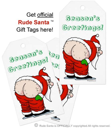 rude gifts for christmas rude santa gift tag
