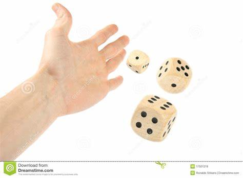 Foreigner Reeds Diary While Dirty Fingered Finger Throwing Dice Stock Photo