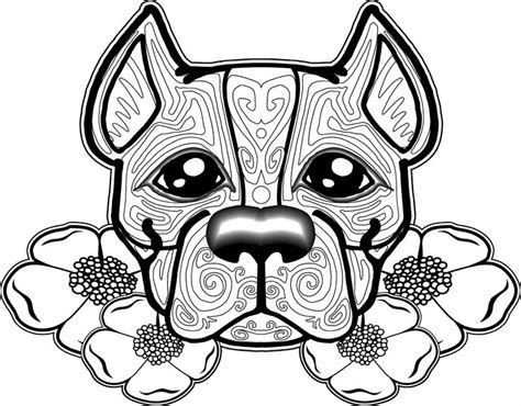 dog coloring pages  adults  printable coloring pages  adults pinterest