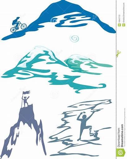 Berg Vectorillustratie Activiteiten Sporten