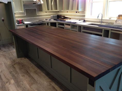 butcher block tops for islands custom made walnut butcher block island top by mccluretables madeinmichigan madeinamerica