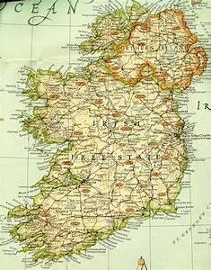 Irish Map Free - TravelQuaz.Com