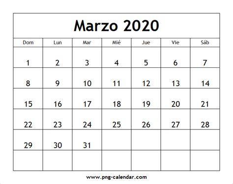 marzo calendario imprimir spanish calendar