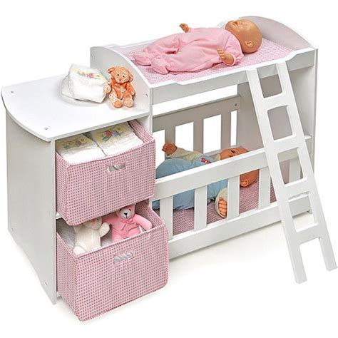 baby alive changing table badger basket doll crib and changing station walmart com