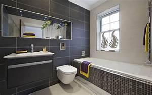 gris et bleu deux couleurs en osmose dans la salle de With salle de bain bleu gris