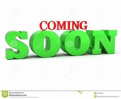 Coming Soon Lettering Presto Venuta Iscrizione Clipart