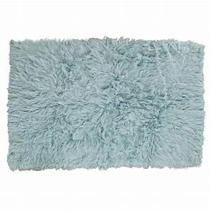 Buy Flokati Rug 1400gm2 140x200cm Blue Skubl144 Online