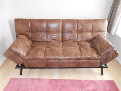 Brown Faux Leather Sofa Bed Home And Textiles