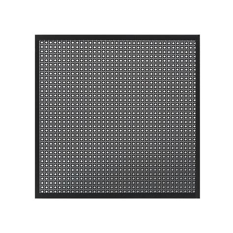 perforated black aluminum metal sheet with decorative