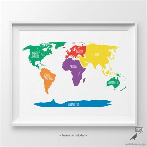 Come and find more adorable kids poster design ideas with designcap poster maker. Primary Colors Nursery World Map Kids Wall Art Playroom Wall Art Classroom Decor Educational ...