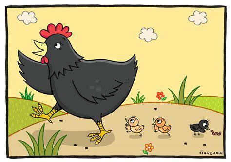 gambarnya aldriana keluarga kecil si ayam kung