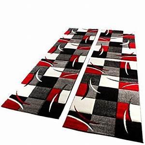 Tapis Noir Et Rouge : tapis rouge noir blanc id es de d coration int rieure french decor ~ Dallasstarsshop.com Idées de Décoration
