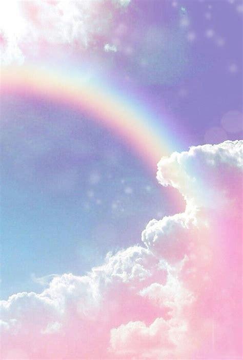 aesthetic wallpaper pastel rainbow