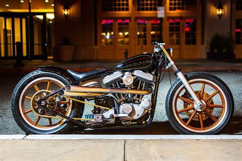 Black And Gold. Harley Davidson 886 Sportster Bobber By Ae