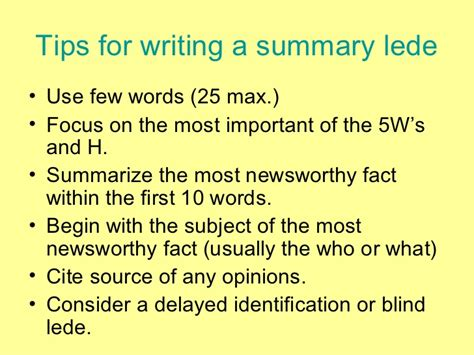 summary writing what are excellent tips on how to write a