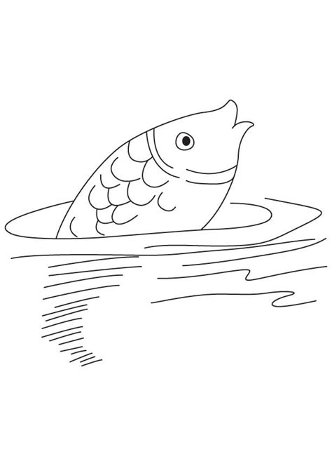 Coloring Pages Of Water by Fish Moving In Water Coloring Page Free Fish