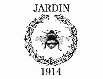 Printable Jardin Grain Sack Graphics Fairy Bee