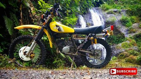 Modifikasi Motor Tua by Modifikasi Motor Trail Adventure Tua Dt100 Menggunakan