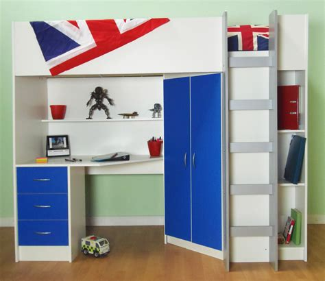 Wardrobe With Drawers Underneath by High Sleeper Cabin Bed With Desk And Wardrobe Calder M2270