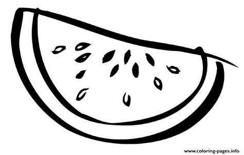 sliced watermelon fruit sbeb coloring pages printable