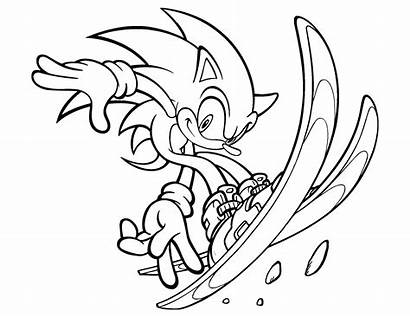 Sonic Coloring Characters Games Children