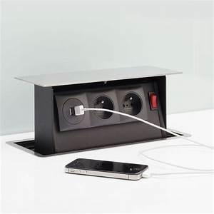 Accessoire Plan De Travail : accessoire cuisine s box 2 prises 2 usb interrupteur cuisissimo ~ Melissatoandfro.com Idées de Décoration