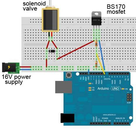 Power Supply Mosfet Operated Solenoid Circuit