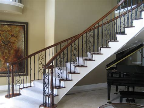 Brown Stairs Railing Designs
