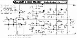 250w Rms Power Amplifier Legend Stage Master Circuit