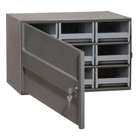 small metal storage cabinet akro mils 9 drawer small parts steel cabinet with locking