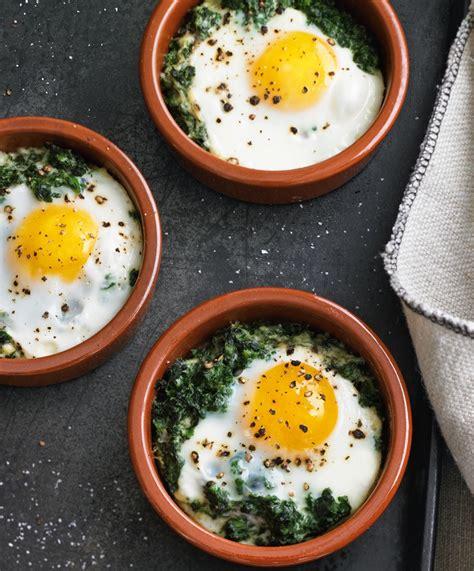 ingredient breakfast baked eggs  spinach cream