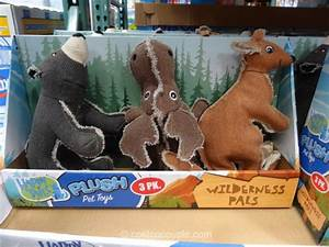 happy tails wilderness plush pet toys With think dog toys costco