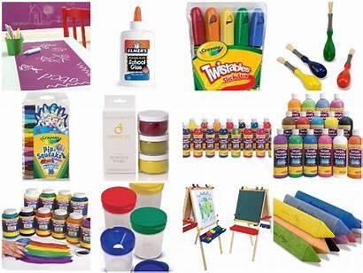 Materials Supplies Toddler Toddlers Preschool Clipart Crafts