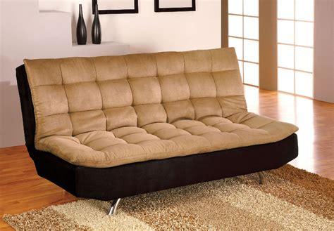 futon sofa mancora black pillow top microfiber sofa bed futon w