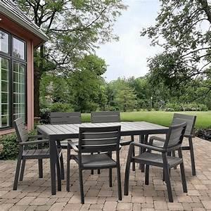 Table Salon De Jardin : salon de jardin r sine harmony table 6 fauteuils l165 x l97 3 x h13 cm l96 x l62 x h61 cm ~ Teatrodelosmanantiales.com Idées de Décoration