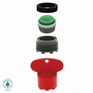 Neoperl 15 gpm moen cache water saving aerator kit with for How to remove aerator from bathroom faucet