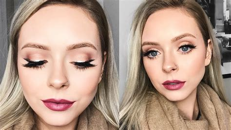 simple holiday makeup   glam youtube
