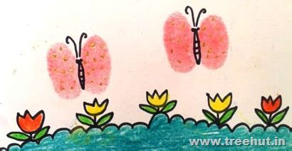 thumb printing art ideas