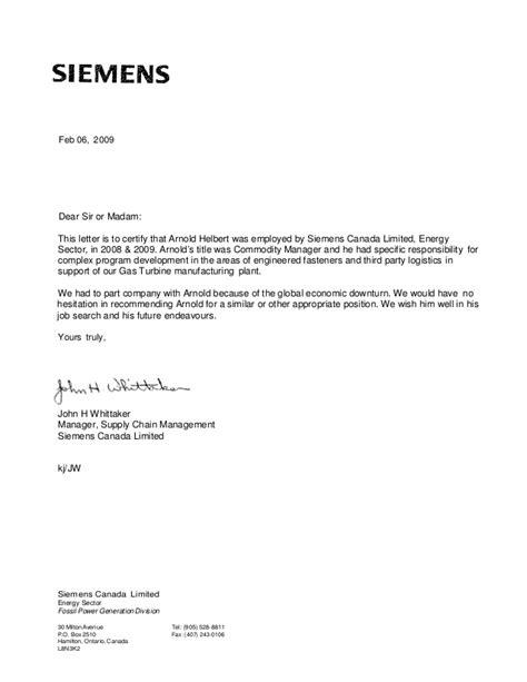 Siemens John Whittaker Reference Letter