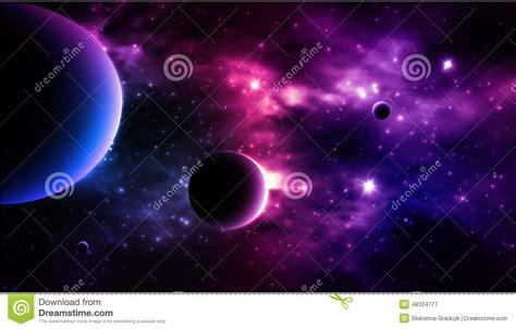 fondo fotorrealista de la galaxia vector ilustracion del