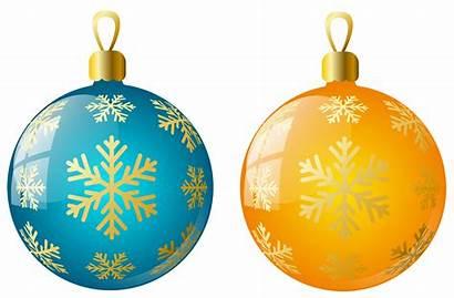 Ornaments Christmas Clipart Transparent Ball Yellow Balls