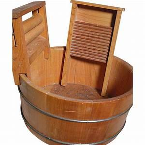 Vintage, Wood, Wash, Tub, With, Wringer, U0026, Scrub, Board, From, Annmariesantiquedolls, On, Ruby, Lane