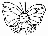 Coloring Pages Butterfly Pokemon раскраска Printable бабочка Cartoon Christmas sketch template