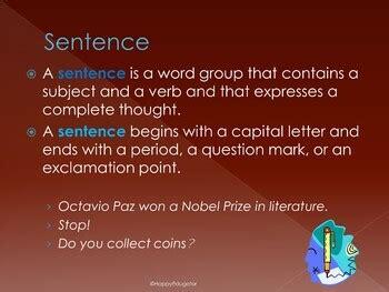 sentences writing correct sentences powerpoint