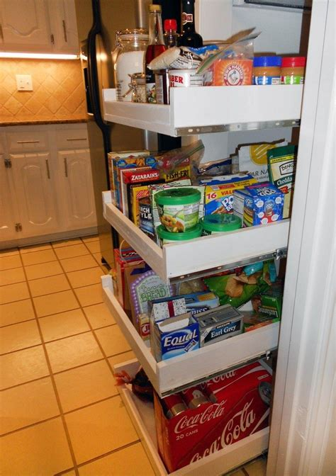 How To Make A Pantry Out Of A Bookcase by How To Build Pull Out Pantry Shelves Diy Projects For