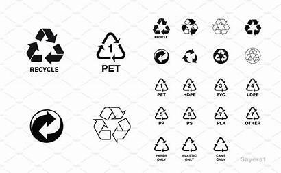 Recycling Basic Symbols Icons 1488 Ps