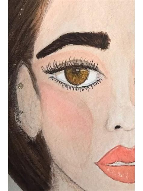 Watercolor Painting Inspired by Dua Lipa [Video] in 2020 ...