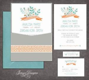 Single panel pocket wedding invitation by jeneze on etsy for Single pocket wedding invitations