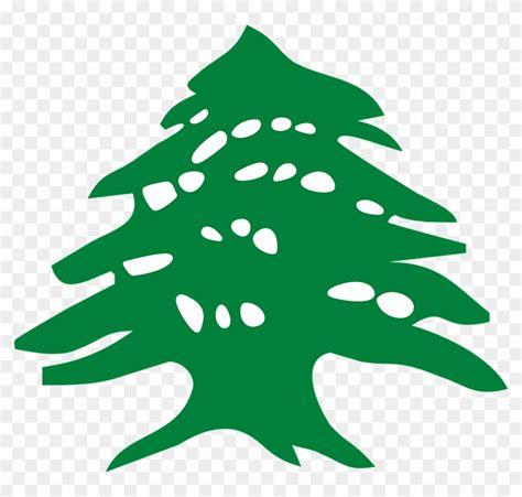 vector graphic lebanese cedar tree vector