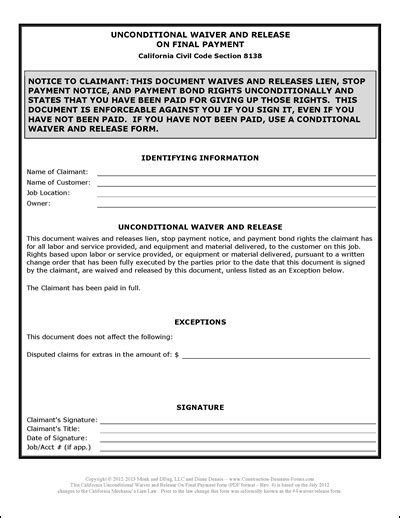 cook county mechanics lien form construction invoice how to the ultimate guide